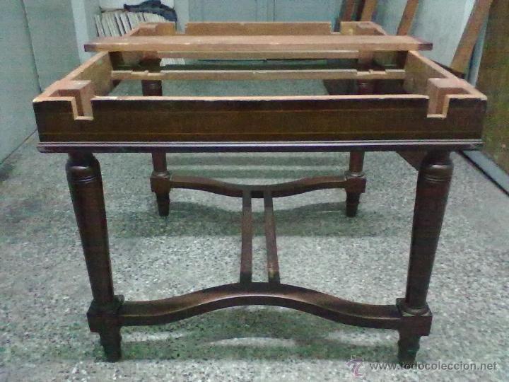 Antigüedades: MESA CAOBA EXTENSIBLE DE COMEDOR PARA RESTAURAR - Foto 7 - 49928103