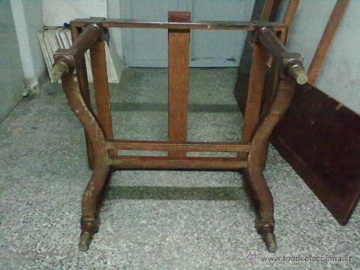 Antigüedades: MESA CAOBA EXTENSIBLE DE COMEDOR PARA RESTAURAR - Foto 10 - 49928103