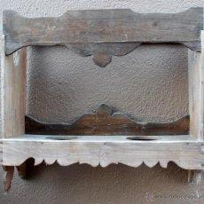 Antigüedades: ESTANTERIA, REPISA PARA DOS CACHARROS DE BARRO, CERAMICA, ETC.. Lote 49946036