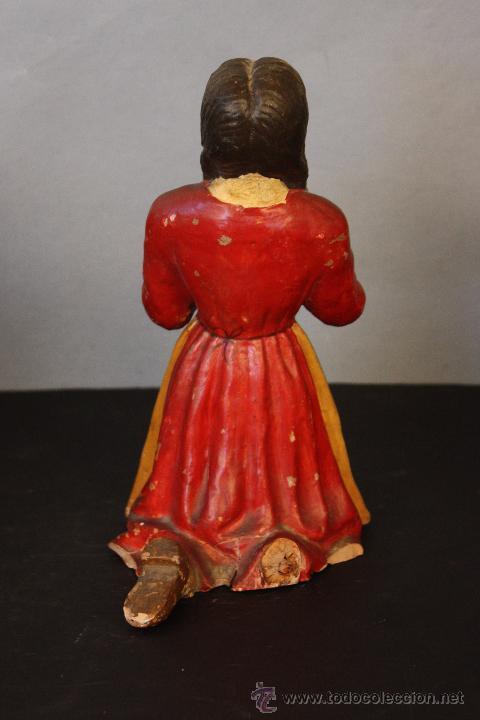 Antigüedades: Niña de terracota (probablemente orando a la Virgen de Fátima) - Foto 4 - 49950483