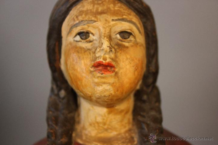 Antigüedades: Niña de terracota (probablemente orando a la Virgen de Fátima) - Foto 6 - 49950483