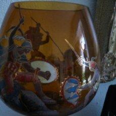 Antigüedades: * ROYO:INUSUAL PIEZA PARA COLECCIONISTAS. COPA CON TALLO ESMALTADO.40CM. Lote 49951801