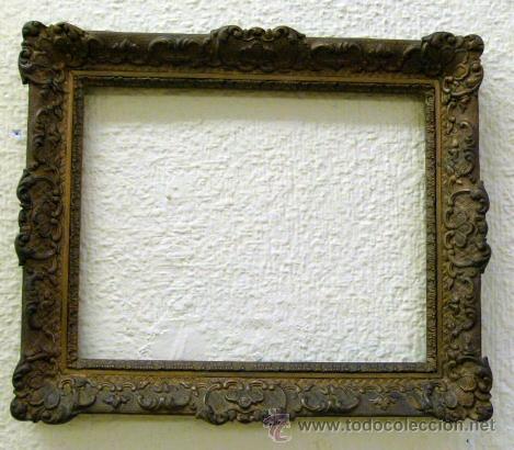 Antiguo marco de madera y escayola comprar marcos antiguos de cuadros en todocoleccion 49954817 - Marcos de madera ...