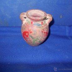 Antigüedades: VASIJA DE BARRO CON FIGURAS. Lote 49956898