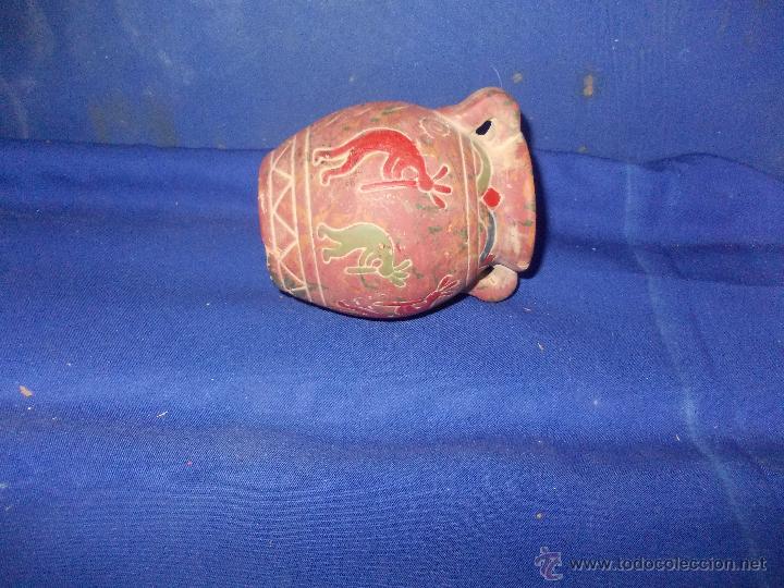 Antigüedades: vasija de barro con figuras - Foto 2 - 49956898