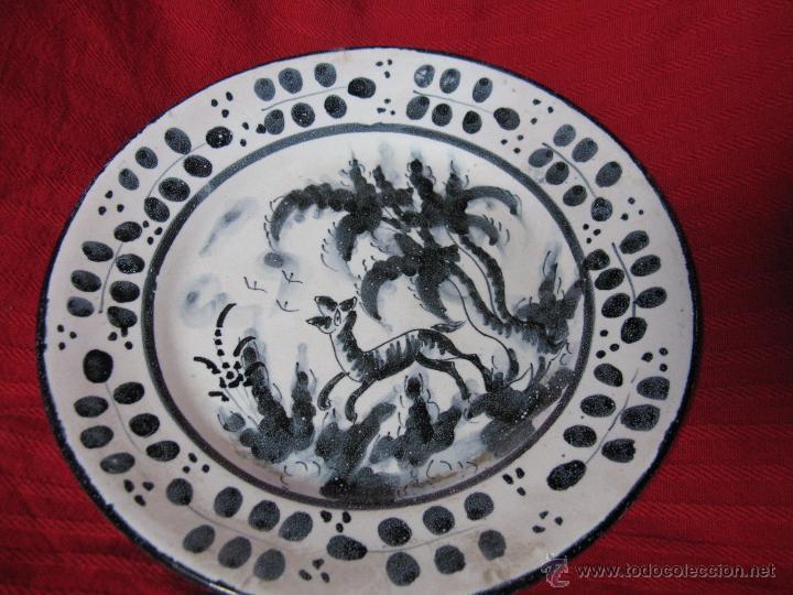 PLATO MANISES DECORADO VICENTE GIMENO AÑOS 20 (Antigüedades - Porcelanas y Cerámicas - Manises)