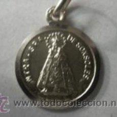 Antigüedades: MEDALLA VIRGEN SONSOLES EN PLATA DE LEY - 16MM. Lote 177527732