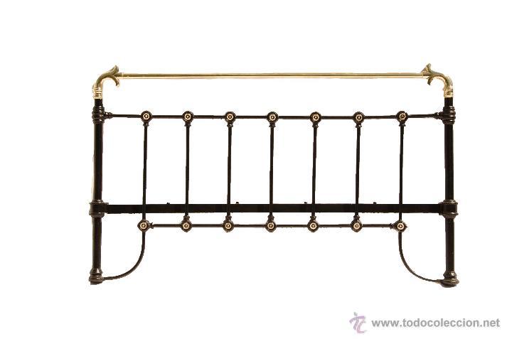 cabecero de cama en bronce y hierro recuperado - Comprar Camas ...