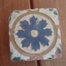 Antigüedades: AZULEJO MUDEJAR TRIANA O TOLEDO SIGLO XVI APROX. Lote 49985658