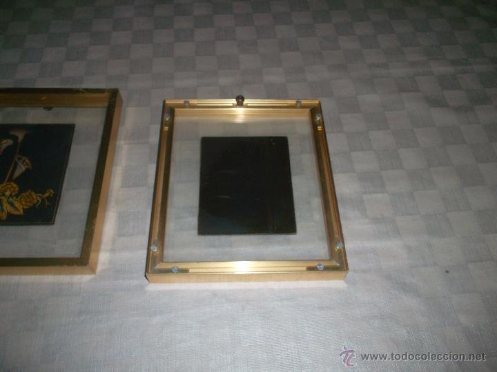 Antigüedades: bonita pareja de cuadros en plata - Foto 3 - 49986976