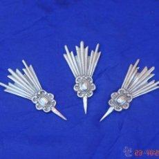 Antigüedades: JUEGOS DE 3 POTENCIAS DE PLATA 925 PARA CRISTO 4,5 INCLUIDO LAPUA QUE MIDE 1 CENTIMETRO X 2,5. Lote 75209681