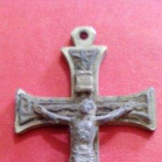 Antigüedades: CRUCIFIJO METAL PLATEADO. Lote 49995470