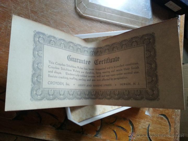 Antigüedades: cartera groyden stitchless guaranted walle, certificado garantia, estuche original nunca usada - Foto 2 - 49997336
