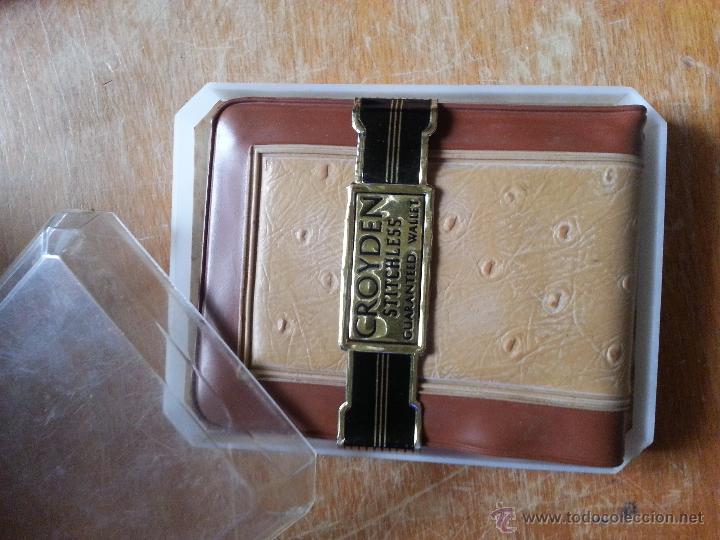 Antigüedades: cartera groyden stitchless guaranted walle, certificado garantia, estuche original nunca usada - Foto 3 - 49997336