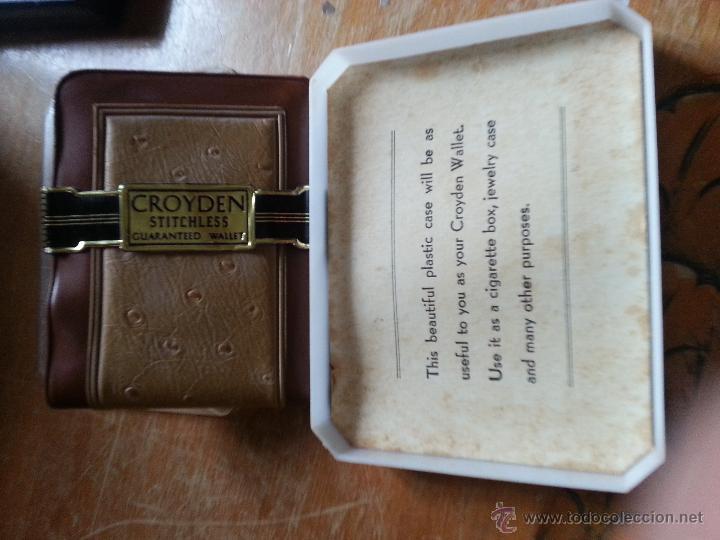 Antigüedades: cartera groyden stitchless guaranted walle, certificado garantia, estuche original nunca usada - Foto 4 - 49997336