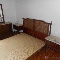 Antigüedades: CONJUNTO DORMITORIO COMPLETO,PERFECTO ESTADO. Lote 50016476