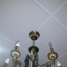 Antigüedades: LAMPARA DE BRONCE. Lote 50018523