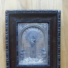 Antigüedades: CUADRO DE LA VIRGEN DEL PILAR PLATEADO,. Lote 50021083