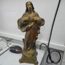 Antigüedades: FIGURA SAGRADO CORAZON ANTIGUA. Lote 50027816