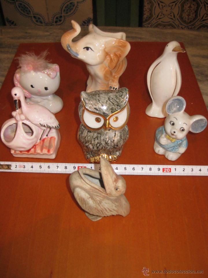 SIETE FIGURITAS DE PORCELANA DE ANIMALES (Antigüedades - Porcelanas y Cerámicas - Otras)