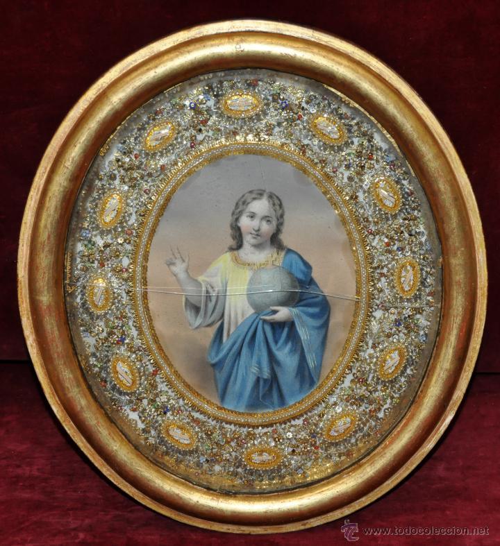 SENSACIONAL RELICARIO CON 12 RELIQUIAS DE SANTOS DEL SIGLO XIX (Antigüedades - Religiosas - Relicarios y Custodias)