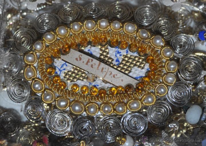 Antigüedades: SENSACIONAL RELICARIO CON 12 RELIQUIAS DE SANTOS DEL SIGLO XIX - Foto 9 - 50034040