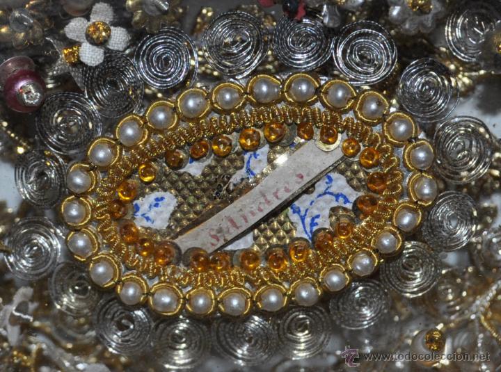 Antigüedades: SENSACIONAL RELICARIO CON 12 RELIQUIAS DE SANTOS DEL SIGLO XIX - Foto 10 - 50034040