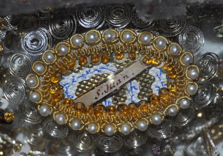 Antigüedades: SENSACIONAL RELICARIO CON 12 RELIQUIAS DE SANTOS DEL SIGLO XIX - Foto 8 - 50034490