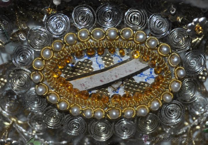Antigüedades: SENSACIONAL RELICARIO CON 12 RELIQUIAS DE SANTOS DEL SIGLO XIX - Foto 9 - 50034490
