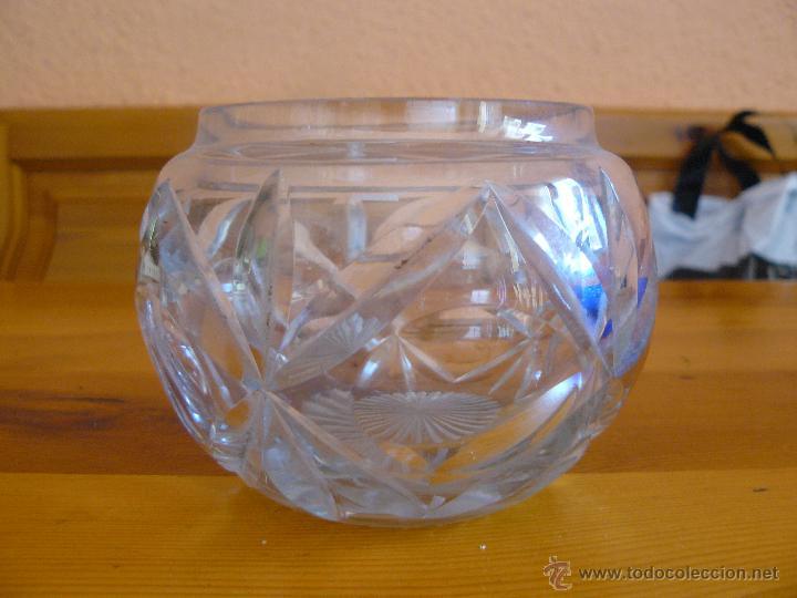 Antigüedades: PRECIOSO BOL DE CRISTAL TALLADO DE BOHEMIA - Foto 2 - 50034535