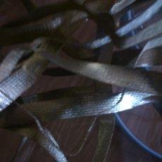 Antigüedades: * ANTIGUA CINTA METALICA DORADA.9,60M. Lote 50042022