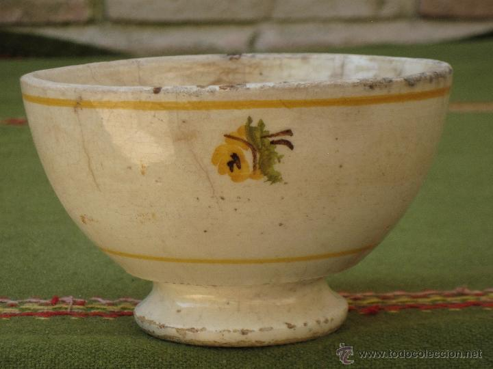 TAZON ANTIGUO EN CERAMICA DE VALENCIA / MANISES. (Antigüedades - Porcelanas y Cerámicas - Manises)