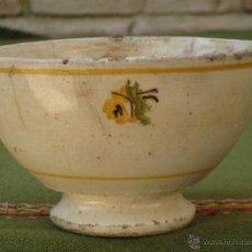 Antigüedades: TAZON ANTIGUO EN CERAMICA DE VALENCIA / MANISES.. Lote 50048015