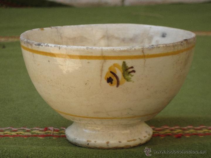 Antigüedades: TAZON ANTIGUO EN CERAMICA DE VALENCIA / MANISES. - Foto 3 - 50048015