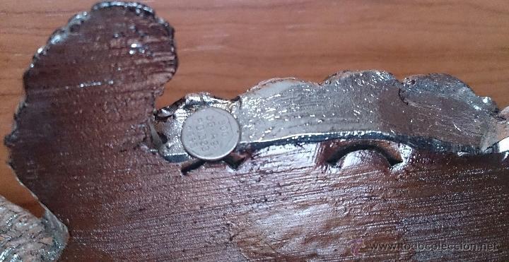 Antigüedades: Bella figura de tortuga en plata de ley Italiana laminada y contrastada en la base . - Foto 12 - 50055979