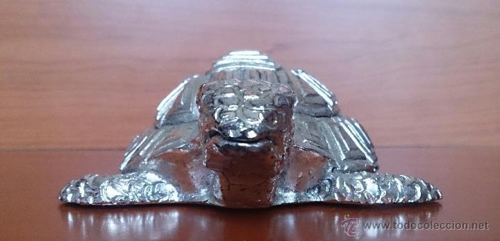 Antigüedades: Bella figura de tortuga en plata de ley Italiana laminada y contrastada en la base . - Foto 16 - 50055979