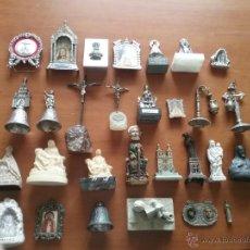 Antigüedades: GRAN LOTE RELIGIOSO VIRGEN SEMANA SANTA CRISTO GRAN PODER, PIEDAD , BOTAFUMEIRO CAMPANAS, METAL .... Lote 50061629