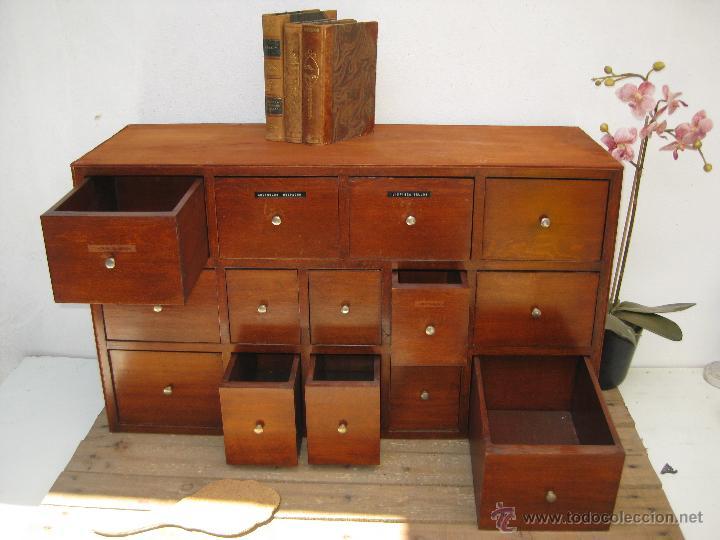 Fantastico mueble cajonera industrial de papele comprar for Muebles antiguos vintage