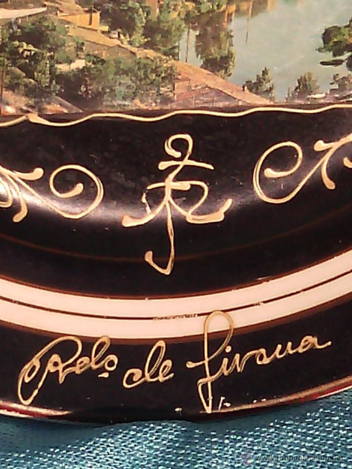Antigüedades: PLATO ANTIGUO CON POSTAL. RDO. DE GIRONA. PORCELANA BISTROT. SAN CLAUDIO. - Foto 2 - 50066731