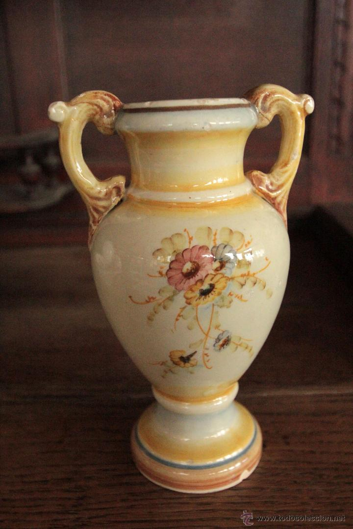 Antigüedades: Antiguo jarró 17cm de altura - Foto 2 - 52515205