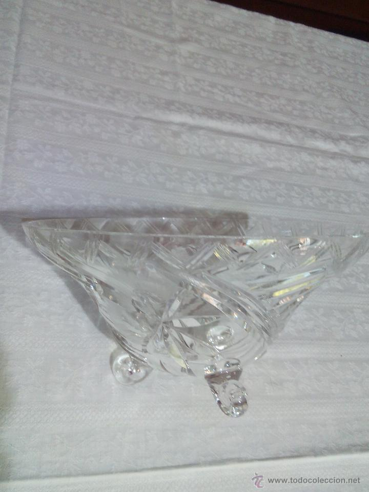 Antigüedades: Precioso centro de mesa de cristal de bohemia tallado. república checa - Foto 5 - 50067945