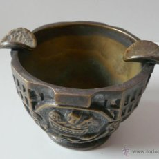 Antigüedades: CENICERO BRONCE VALENTI - PRIMERA MITAD DEL SIGLO XX. Lote 50076607