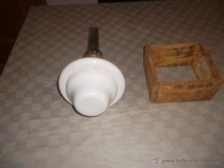 Antigüedades: quinque de opalina antiguo - Foto 2 - 50082346