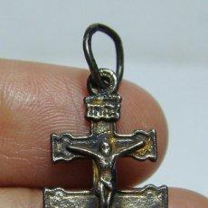Antigüedades: ANTIGUA CRUZ DE CARAVACA. PLATA. . Lote 50086699