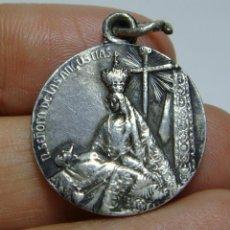 Antigüedades: MEDALLA RELIGIOSA ANTIGUA. PLATA. NTRA. SRA DE LAS ANGUSTIAS.. Lote 50086720