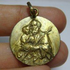 Antigüedades: ANTIGUA MEDALLA RELIGIOSA. SAN JOSÉ Y EL NIÑO.. Lote 245354955