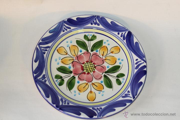 Plato en ceramica para colgar comprar platos antiguos en - Platos de ceramica ...