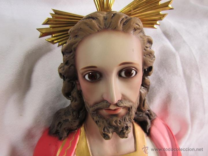 Antigüedades: Imagen Corazón de Jesús El niño Jesús Olot - Foto 2 - 50093928