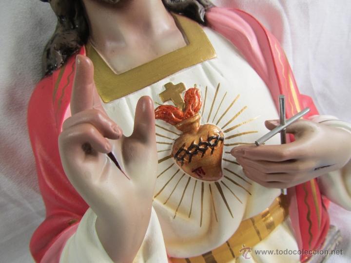Antigüedades: Imagen Corazón de Jesús El niño Jesús Olot - Foto 4 - 50093928