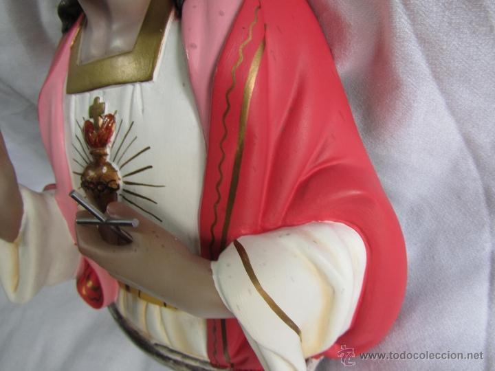 Antigüedades: Imagen Corazón de Jesús El niño Jesús Olot - Foto 8 - 50093928